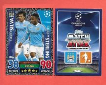 Manchester City David Silva & Raheem Sterling 54 Midfield Duo